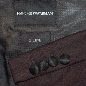NEW $1595 38R Emporio Armani G Line Wine Peak COAT